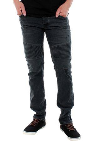 Jack & Jones Pantalón pitillo 12125488 JJIGLENN JJCROSS JJ 051 BLACK BLACK para hombre