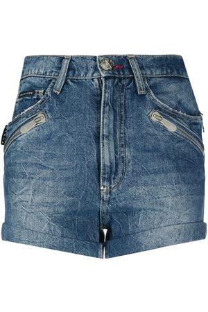 Philipp Plein Pantalones vaqueros cortos con bolsillos múltiples
