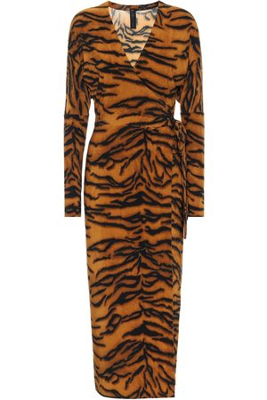 Norma Kamali Exclusivo en Mytheresa – vestido con estampado de tigre