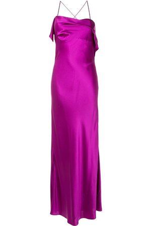 Michelle Mason Vestido de cóctel con cuello drapeado
