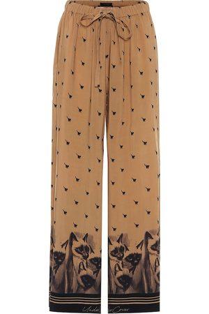 UNDERCOVER Pantalones anchos estampados