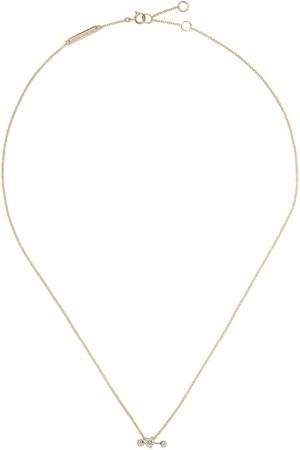 DELFINA DELETTREZ Collar Two In One en oro y oro blanco 18kt con diamantes
