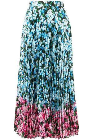 Mary Katrantzou Falda floral plisada