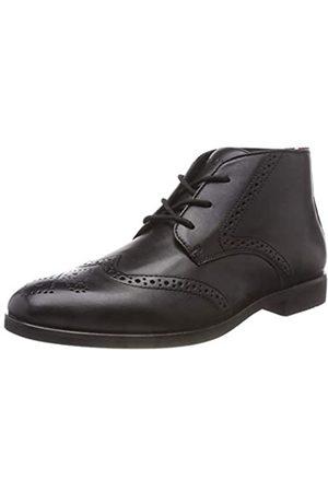 Tommy Hilfiger Hombre Calzado casual - Dressy Casual Leather Boot, Zapatos de Cordones Derby para Hombre, (Black 990)