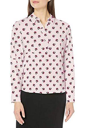 Lark & Ro Women's Collared Blouse Popover Dress-Shirts