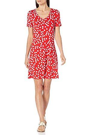 Amazon Vestido Columpio de Manga Corta con Cuello en V Dresses