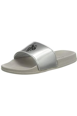 U.S. Polo Assn. US Polo Association Emerald Metallized, Chanclas para Mujer, (Grey/SIL 061)