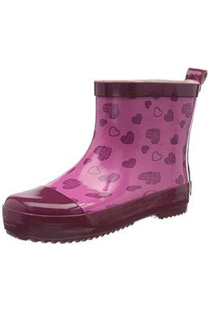 Playshoes Naturkautschuk Halbschaft Herzchen, Botas de Agua para Niñas, (Pink 18)