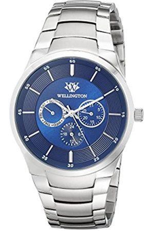 Daniel Wellington Reloj de Cuarzo para Caballero con cronógrafo, Pantalla analógica y Extensible de Acero Inoxidable Color