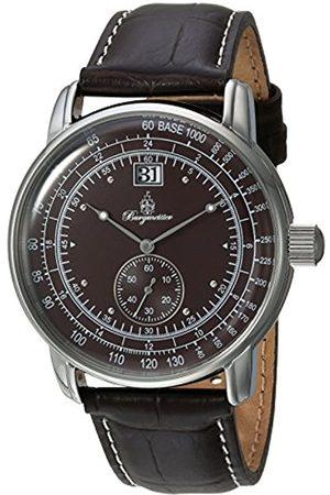 Burgmeister Reloj de Cuarzo para Hombres con Color Esfera analógica y Pulsera de Piel bm333 – 195