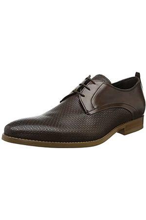 Bertie Professor, Zapatos de Cordones Derby para Hombre, (Brown-Leather Brown-Leather)