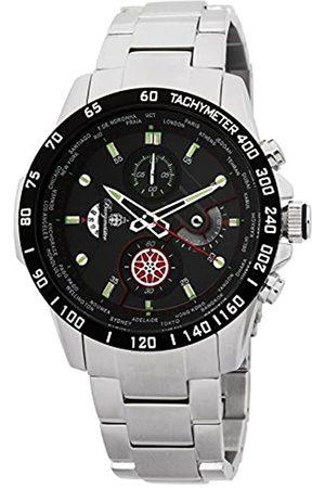 Burgmeister Reloj analógico para Hombre de Cuarzo con Correa en Acero Inoxidable BMS01-121