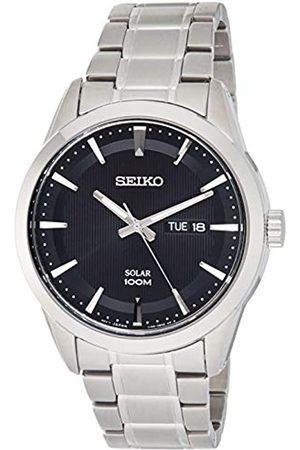 Seiko Reloj Analógico para Hombre de Energía Solar con Correa en Acero Inoxidable SNE363P1