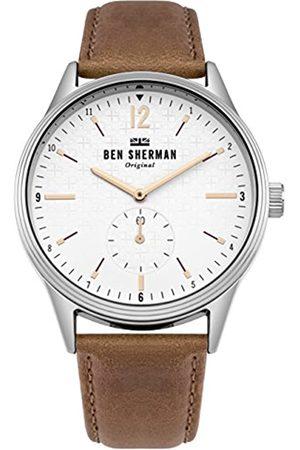 Ben Sherman Reloj Análogo clásico para Hombre de Cuarzo con Correa en Cuero WB015T