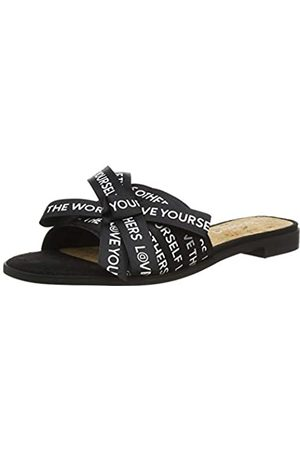 Desigual Shoes Mambo Lettering, Sandalias con Punta Abierta para Mujer, ( 2000)