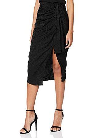 New Look Go Set Satin Jaq Midi Skirt Falda