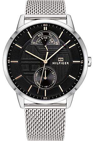 Tommy Hilfiger Reloj Multiesfera para Hombre de Cuarzo con Correa en Acero Inoxidable 1791610