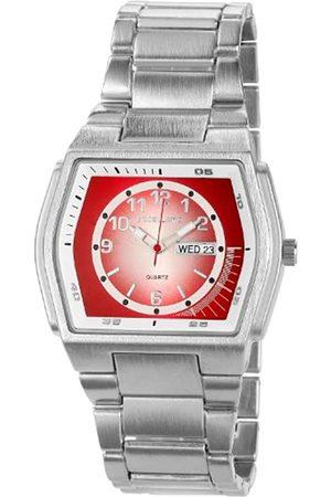 Excellanc 284025000111 - Reloj analógico de caballero de cuarzo con correa de aleación plateada