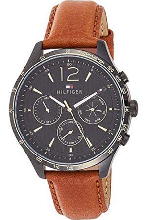 Tommy Hilfiger Reloj Multiesfera para Hombre de Cuarzo con Correa en Cuero 1791470