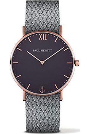 Paul Hewitt Reloj Analógico para Hombre de Cuarzo con Correa en Tela PH-SA-R-St-B-18M