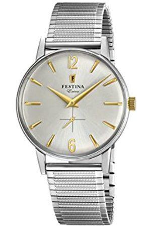Festina Reloj Análogo clásico para Hombre de Cuarzo con Correa en Acero Inoxidable F20250/2