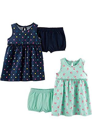 Simple Joys by Carter's Conjunto de 2 vestidos de manga corta y sin mangas para bebés y niñas