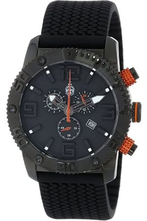 Burgmeister BM521-622B - Reloj analógico de Cuarzo para Hombre con Correa de Silicona