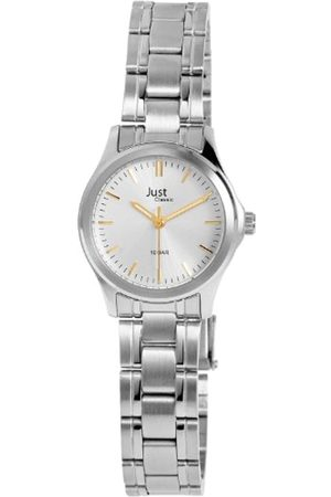 Just Watches Just Just - Reloj analógico de mujer de cuarzo con correa de acero inoxidable plateada - sumergible a 100 metros