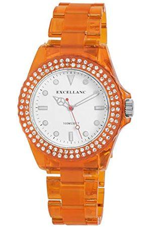 Excellanc 225184100001 - Reloj analógico de mujer de cuarzo con correa de plástico