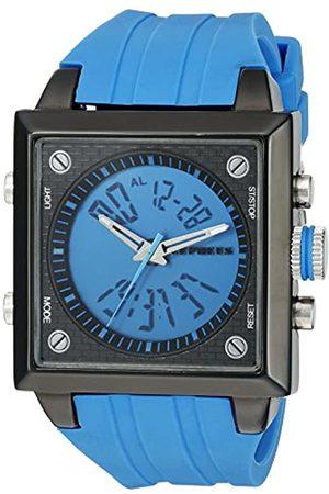 CEPHEUS CP900-633A - Reloj analógico y Digital de Cuarzo para Hombre con Correa de Silicona