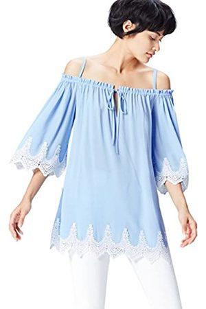 FIND Lace Trim Gypsy Blusa para Mujer
