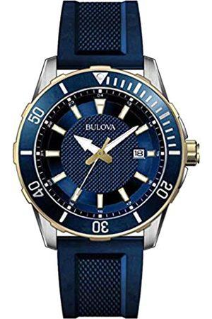 Bulova Reloj Analógico para Hombre de Cuarzo con Correa en Silicona 98B345