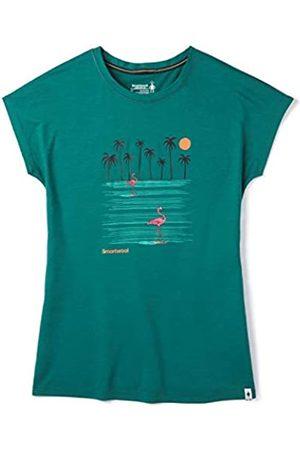 Smartwool Women's Merino Sport 150 Surfing Flamingos tee Camiseta, Mujer