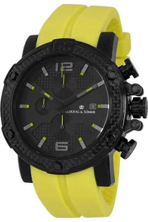 Herzog & Söhne HS201-620 - Reloj analógico de Cuarzo para Hombre, Correa de Silicona Color (cronómetro, Agujas luminiscentes