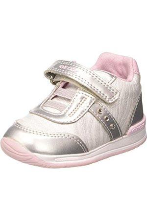 Geox Rishon Baby G, Zapatillas para Bebés, (White/Silver C0007)