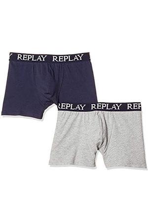 Replay Basic Cuff Logo 2pz Bóxer