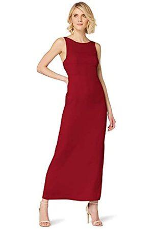 TRUTH & FABLE Marca Amazon - Vestido Largo Evasé de Satén Mujer, 44