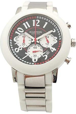 K&Bros RelojCronógrafoparaHombredeCuarzoconCorreaenAceroInoxidable9428-1-930