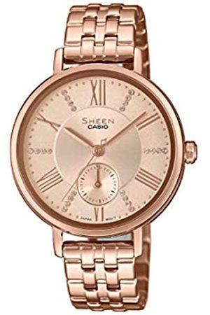 Casio Reloj Analógico para Mujer de Cuarzo con Correa en Acero Inoxidable SHE-3066PG-4AUEF
