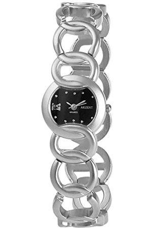 Akzent SS7121000077 - Reloj analógico de mujer de cuarzo con correa de aleación plateada - sumergible a 30 metros