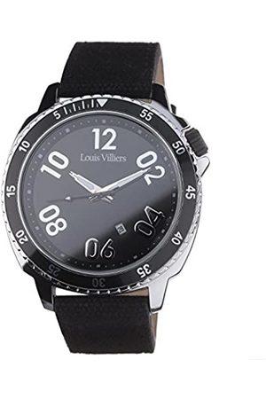 Louis Villiers Reloj Analógico para Unisex Adultos de Cuarzo con Correa en Cuero LV1047