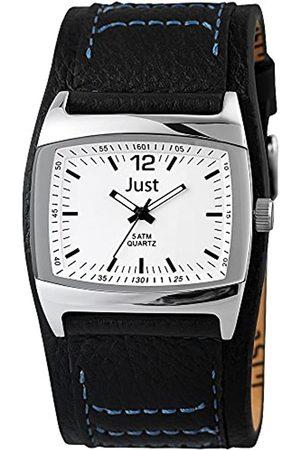 Just Watches 48-S10628-WH-BK - Reloj de Pulsera Hombre, Piel