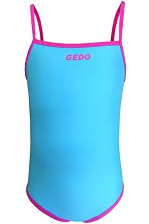 Gedo SWIM01 - Bañador para niña, Color Celeste/Fucsia