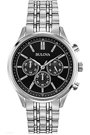 BULOVA Reloj Cronógrafo para Hombre de Cuarzo con Correa en Acero Inoxidable 96A211