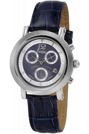 Engelhardt 385742629061 - Reloj analógico de caballero automático con correa de piel - sumergible a 50 metros