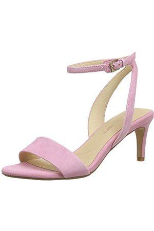 Clarks Amali Jewel, Zapatos con Tacon y Correa de Tobillo para Mujer, (Pink Suede Pink Suede)