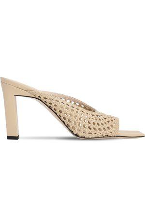 Wandler | Mujer Sandalias De Piel Trenzada 85mm 40