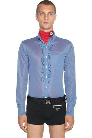 Prada | Hombre Camisa De Jersey Con Volantes 39