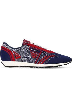 Prada | Hombre Sneakers De Punto /rojo 9.5