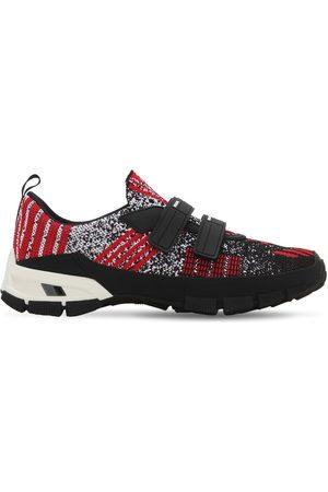 "Prada | Hombre Sneakers Slip-on ""cross Section"" /negro 5"